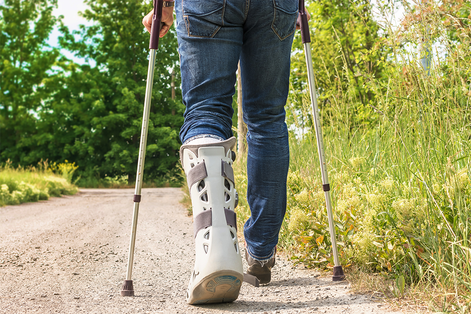Health Tip: Preventing Falls on Crutches